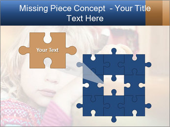 Sad-Looking Child PowerPoint Template - Slide 45