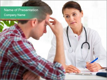 Man Visiting Nervous Specialist PowerPoint Template