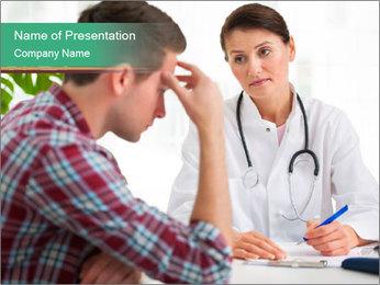 Man Visiting Nervous Specialist PowerPoint Template - Slide 1