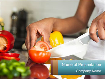 Salad Preparation PowerPoint Template