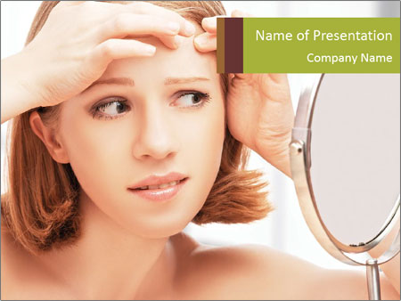 Young Lady With Pimples PowerPoint Templates