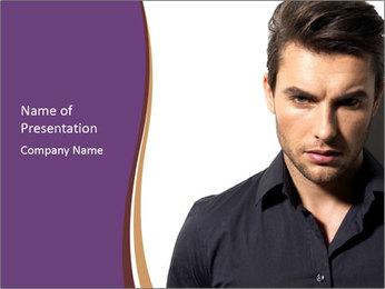 Man In Black Shirt Modèles des présentations  PowerPoint