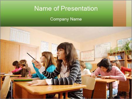 School Auditorium PowerPoint Template