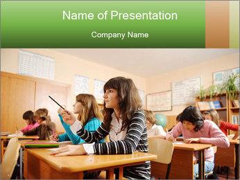 School Auditorium PowerPoint Template - Slide 1