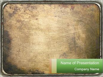 Bronze Surface PowerPoint Template - Slide 1