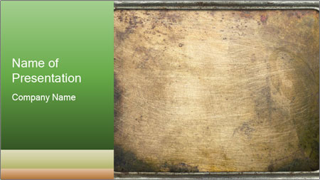 Bronze Surface PowerPoint Template