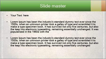 Bronze Surface PowerPoint Template - Slide 2