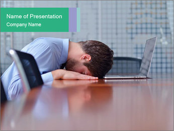 Office Clerk With Headache PowerPoint Template