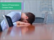 Office Clerk With Headache PowerPoint Templates