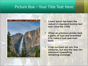 Pine Trees And Lake PowerPoint Templates - Slide 13