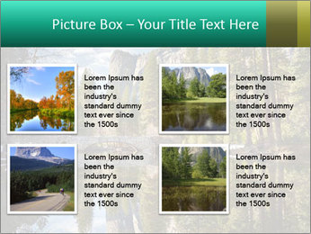 Pine Trees And Lake PowerPoint Templates - Slide 14