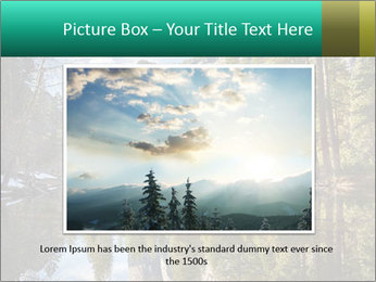 Pine Trees And Lake PowerPoint Templates - Slide 15