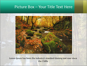 Pine Trees And Lake PowerPoint Templates - Slide 16