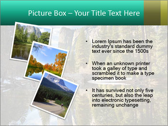 Pine Trees And Lake PowerPoint Templates - Slide 17