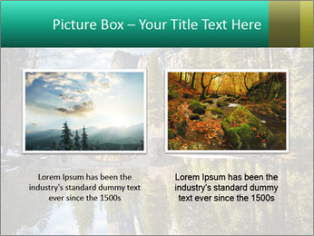 Pine Trees And Lake PowerPoint Templates - Slide 18