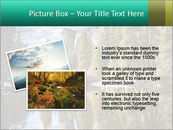 Pine Trees And Lake PowerPoint Templates - Slide 20