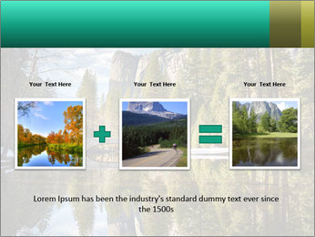 Pine Trees And Lake PowerPoint Templates - Slide 22