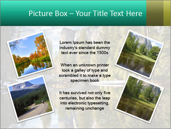 Pine Trees And Lake PowerPoint Templates - Slide 24