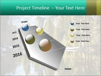 Pine Trees And Lake PowerPoint Templates - Slide 26