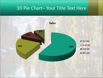 Pine Trees And Lake PowerPoint Templates - Slide 35