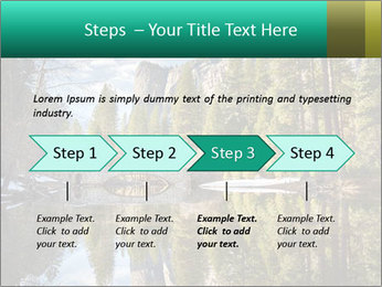 Pine Trees And Lake PowerPoint Templates - Slide 4