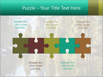 Pine Trees And Lake PowerPoint Templates - Slide 41