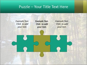 Pine Trees And Lake PowerPoint Templates - Slide 42