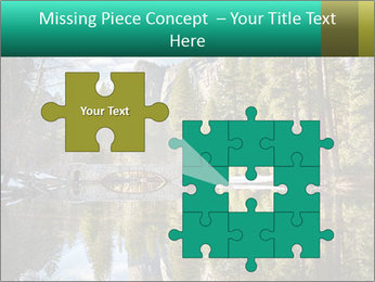 Pine Trees And Lake PowerPoint Templates - Slide 45