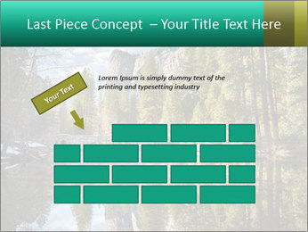 Pine Trees And Lake PowerPoint Templates - Slide 46