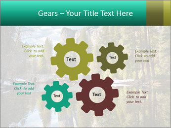 Pine Trees And Lake PowerPoint Templates - Slide 47
