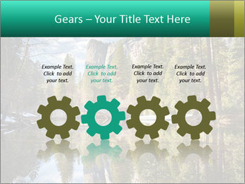 Pine Trees And Lake PowerPoint Templates - Slide 48