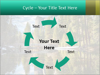 Pine Trees And Lake PowerPoint Templates - Slide 62