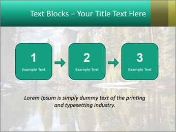 Pine Trees And Lake PowerPoint Templates - Slide 71