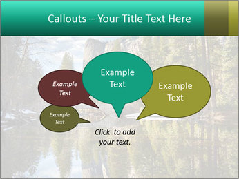 Pine Trees And Lake PowerPoint Templates - Slide 73