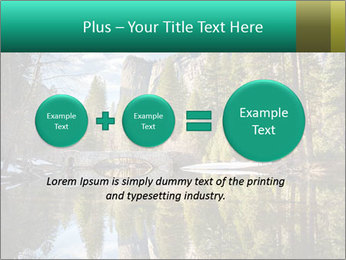 Pine Trees And Lake PowerPoint Templates - Slide 75