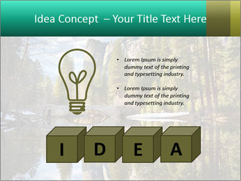 Pine Trees And Lake PowerPoint Templates - Slide 80