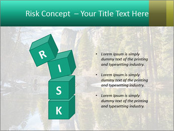 Pine Trees And Lake PowerPoint Templates - Slide 81
