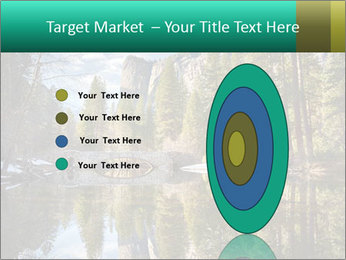 Pine Trees And Lake PowerPoint Templates - Slide 84