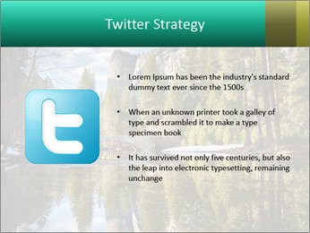 Pine Trees And Lake PowerPoint Templates - Slide 9