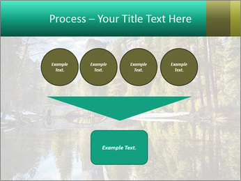 Pine Trees And Lake PowerPoint Templates - Slide 93