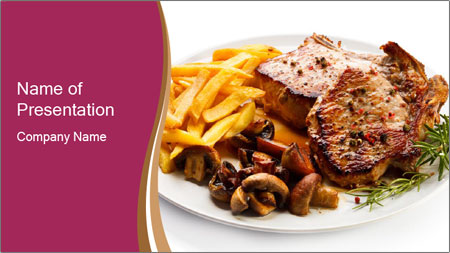 Steak And Chips PowerPoint Template