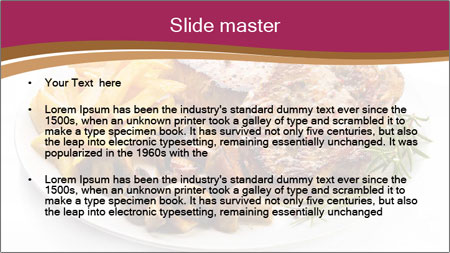 Steak And Chips PowerPoint Template - Slide 2