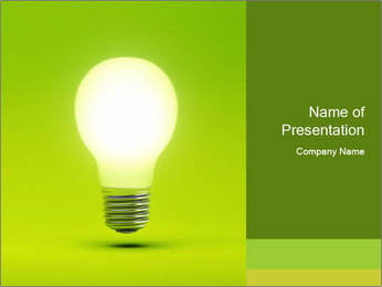 Efficient Green Energy PowerPoint Template - Slide 1