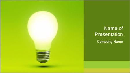 Efficient Green Energy PowerPoint Template