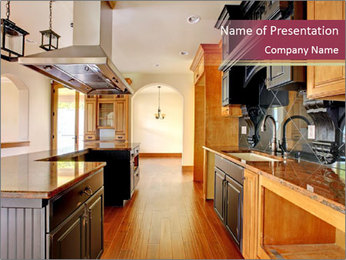 Kitchen Interior PowerPoint Template - Slide 1