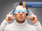 Man And Virtual Reality PowerPoint Templates