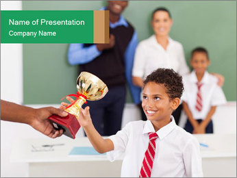 School Competition Winner PowerPoint Template
