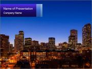 Colorado City At Night PowerPoint Templates