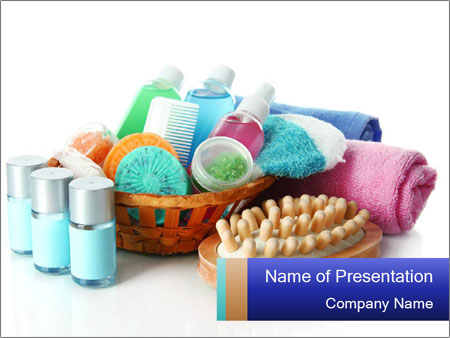 Bathroom Accessories PowerPoint Template