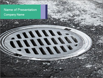 Water Drain PowerPoint Template